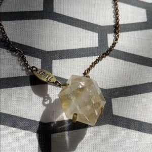 Free people spell quartz necklace